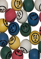BINGO BALLS COLORED