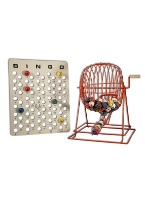 BINGO CAGE SET LARGE RED