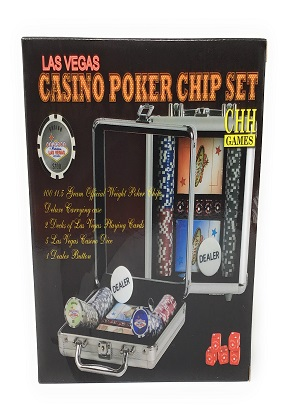 LV Casino 100 chip Poker Set Aluminum