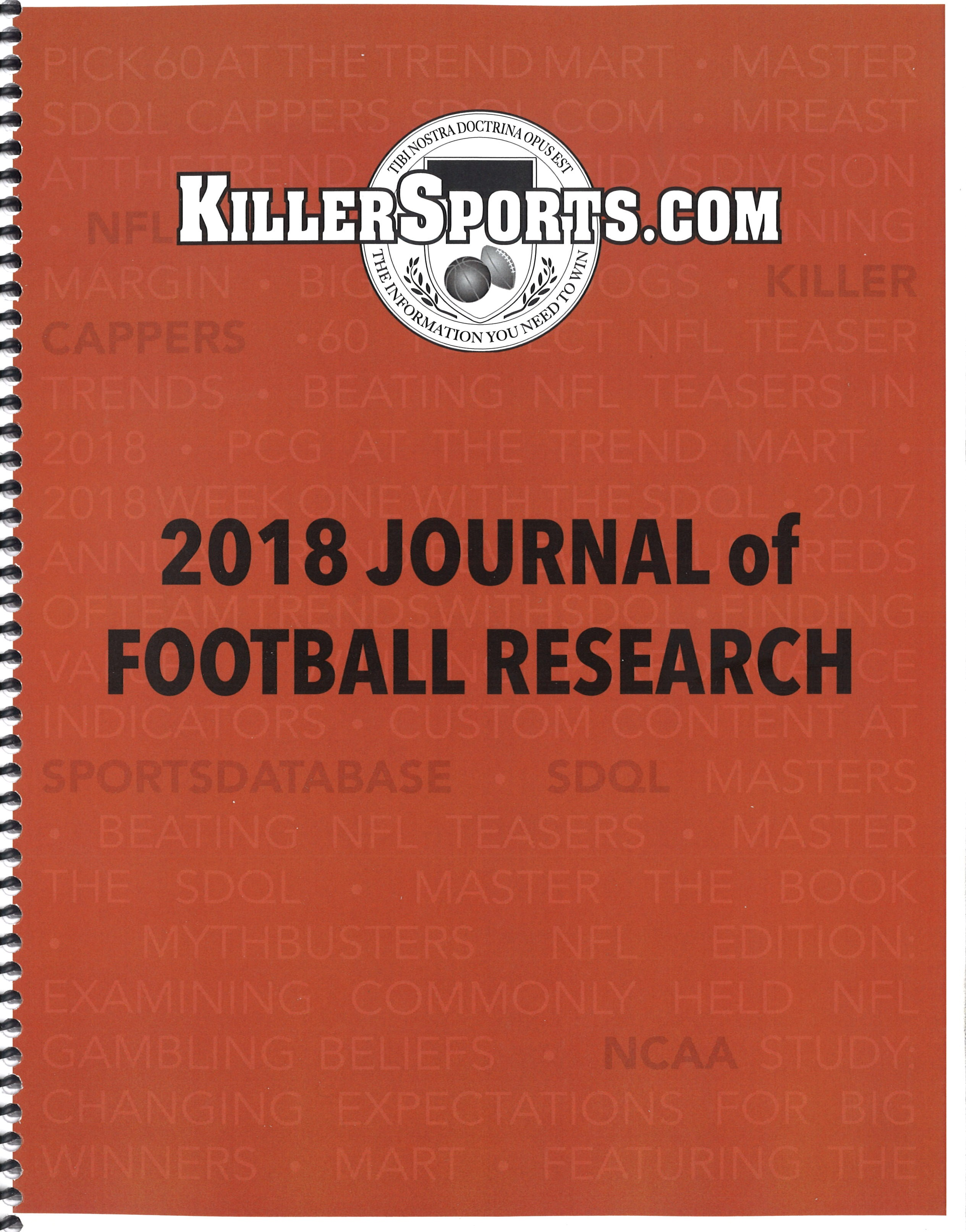 KILLERSPORTS 2018 JOURNAL OF FOOTBALL RESEARCH