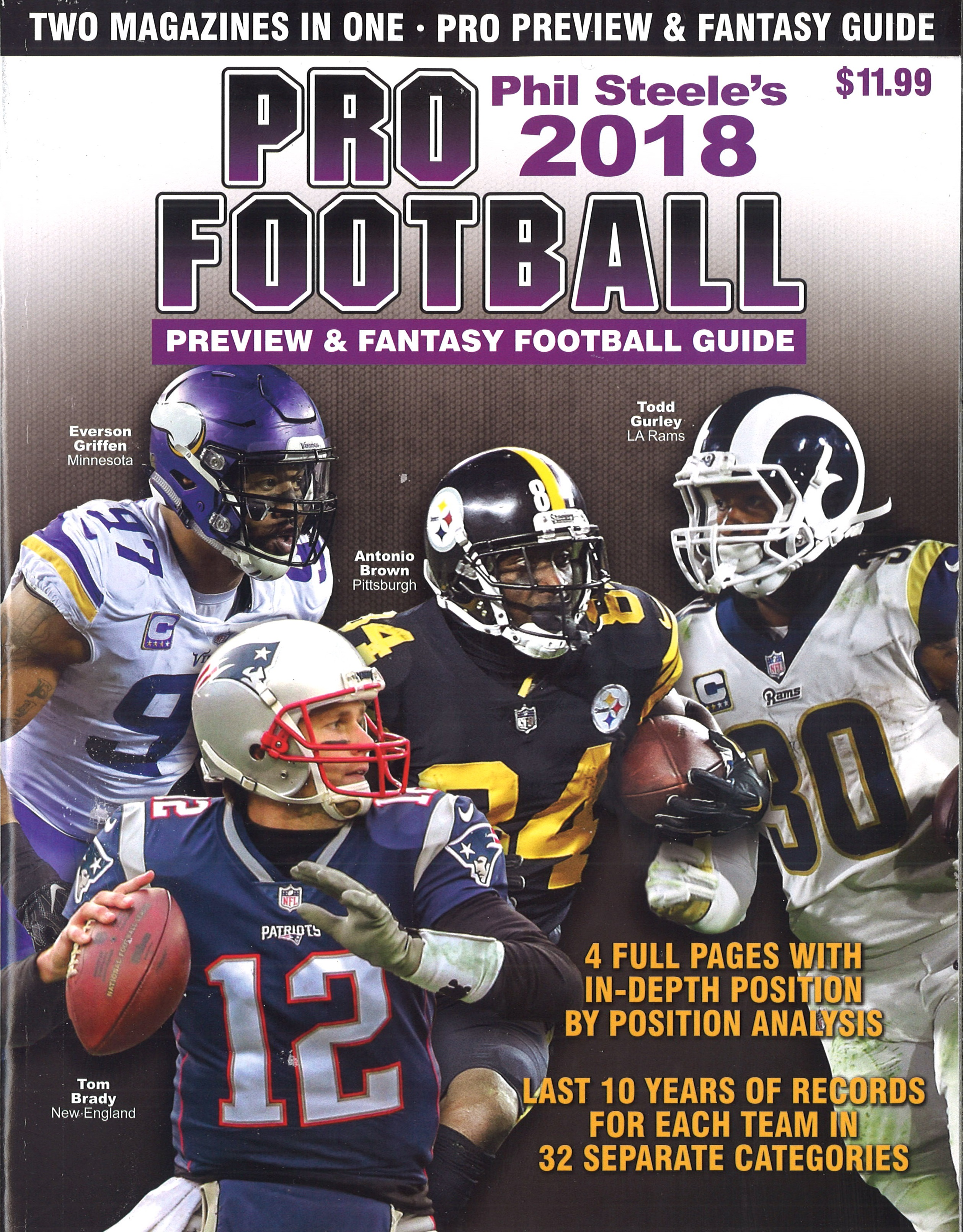 PHIL STEELE'S 2018 PRO FOOTBALL PREVIEW & FANTASY FOOTBALL