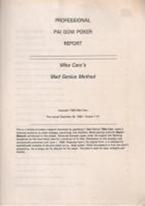 CARO PRO PAI GOW POKER REPORT