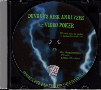 DUNBARS RISK ANALYZER FOR VIDEO POKER