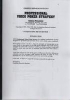 GRI PROFESSIONAL VIDEO POKER STRATEGY