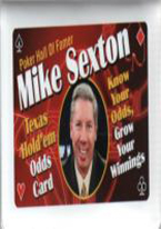 MIKE SEXTON TEXAS HOLDEM ODDS CARD