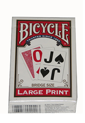 LARGE PRINT BICYCLE Red