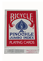 BICYCLE PINOCHLE JI Red