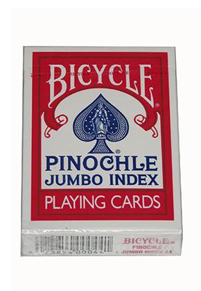 BICYCLE PINOCHLE JI Red