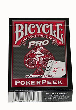BICYCLE PRO POKER PEEK Red