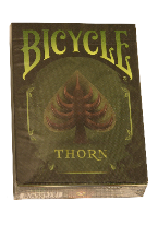 Bicycle Thorn Plastic playing cards, plastic poker playing cards, low vision cards, large print cards, jumbo index cards, paper cards, professional poker cards, used casino cards, Tally Ho cards, Tally Ho Viper cards, used Strip casino cards, Kem cards, Kem poker cards, Kem bridge cards, Kem jumbo cards, Kem standard index cards, Kem narrow jumbo cards, Kem Jacquard playing cards, bicycle cards, Theory 11 cards, Ellusionist playing cards, fantasy playing cards, nature playing cards, Copag plastic cards, poker cards, bridge cards, casino cards, playing cards, collector cards, tarot cards, magic cards, sports cards, Bee playing cards, Congress cards, Aviator playing cards, collectible card tins, Marilyn Monroe playing cards, Elvis playing cards, magician c