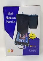 Black Aluminum Poker Set  -