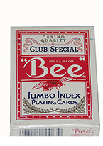 BEE POKER JUMBO Red