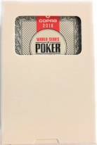 Copag 2018 WSOP World Series of Poker Plastic Playing Cards, Red or Black, Bridge Narrow Size, Regular Index