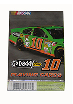 DANICA PATRICK #10 STOCK CAR CARDS Plastic playing cards, plastic poker playing cards, low vision cards, large print cards, jumbo index cards, paper cards, professional poker cards, used casino cards, Tally Ho cards, Tally Ho Viper cards, used Strip casino cards, Kem cards, Kem poker cards, Kem bridge cards, Kem jumbo cards, Kem standard index cards, Kem narrow jumbo cards, Kem Jacquard playing cards, bicycle cards, Theory 11 cards, Ellusionist playing cards, fantasy playing cards, nature playing cards, Copag plastic cards, poker cards, bridge cards, casino cards, playing cards, collector cards, tarot cards, magic cards, sports cards, Bee playing cards, Congress cards, Aviator playing cards, collectible card tins, Marilyn Monroe playing cards, Elvis playing cards, magician c