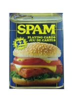 Spam Playing Cards Plastic playing cards, plastic poker playing cards, low vision cards, large print cards, jumbo index cards, paper cards, professional poker cards, used casino cards, Tally Ho cards, Tally Ho Viper cards, used Strip casino cards, Kem cards, Kem poker cards, Kem bridge cards, Kem jumbo cards, Kem standard index cards, Kem narrow jumbo cards, Kem Jacquard playing cards, bicycle cards, Theory 11 cards, Ellusionist playing cards, fantasy playing cards, nature playing cards, Copag plastic cards, poker cards, bridge cards, casino cards, playing cards, collector cards, tarot cards, magic cards, sports cards, Bee playing cards, Congress cards, Aviator playing cards, collectible card tins, Marilyn Monroe playing cards, Elvis playing cards, magician c