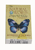 Natural world butterflies playing cards