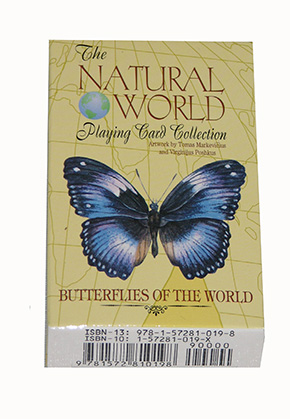 Natural world butterflies playing cards