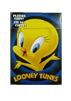 Tweety Bird Looney Tunes Plastic playing cards, plastic poker playing cards, low vision cards, large print cards, jumbo index cards, paper cards, professional poker cards, used casino cards, Tally Ho cards, Tally Ho Viper cards, used Strip casino cards, Kem cards, Kem poker cards, Kem bridge cards, Kem jumbo cards, Kem standard index cards, Kem narrow jumbo cards, Kem Jacquard playing cards, bicycle cards, Theory 11 cards, Ellusionist playing cards, fantasy playing cards, nature playing cards, Copag plastic cards, poker cards, bridge cards, casino cards, playing cards, collector cards, tarot cards, magic cards, sports cards, Bee playing cards, Congress cards, Aviator playing cards, collectible card tins, Marilyn Monroe playing cards, Elvis playing cards, magician c