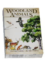 WOODLAND ANIMALS Plastic playing cards, plastic poker playing cards, low vision cards, large print cards, jumbo index cards, paper cards, professional poker cards, used casino cards, Tally Ho cards, Tally Ho Viper cards, used Strip casino cards, Kem cards, Kem poker cards, Kem bridge cards, Kem jumbo cards, Kem standard index cards, Kem narrow jumbo cards, Kem Jacquard playing cards, bicycle cards, Theory 11 cards, Ellusionist playing cards, fantasy playing cards, nature playing cards, Copag plastic cards, poker cards, bridge cards, casino cards, playing cards, collector cards, tarot cards, magic cards, sports cards, Bee playing cards, Congress cards, Aviator playing cards, collectible card tins, Marilyn Monroe playing cards, Elvis playing cards, magician c