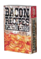 BACON RECIPES PLAYING CARDS bacon, recipes, food, pork, design studios ltd, eggs, breakfast