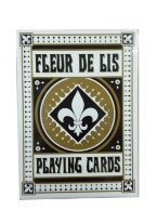 Fleur De Lis - Black Plastic playing cards, plastic poker playing cards, low vision cards, large print cards, jumbo index cards, paper cards, professional poker cards, used casino cards, Tally Ho cards, Tally Ho Viper cards, used Strip casino cards, Kem cards, Kem poker cards, Kem bridge cards, Kem jumbo cards, Kem standard index cards, Kem narrow jumbo cards, Kem Jacquard playing cards, bicycle cards, Theory 11 cards, Ellusionist playing cards, fantasy playing cards, nature playing cards, Copag plastic cards, poker cards, bridge cards, casino cards, playing cards, collector cards, tarot cards, magic cards, sports cards, Bee playing cards, Congress cards, Aviator playing cards, collectible card tins, Marilyn Monroe playing cards, Elvis playing cards, magician c