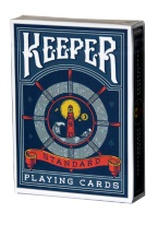 KEEPER BLUE keeper, playing cards, standard, ellusionist,
