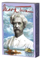 MARK TWAIN playing cards, mark twain, authors, american literature, adventures of tom sawyer
