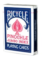 BICYCLE PINOCHLE JUMBO INDEX BLUE bicycle, jumbo index, jumbo, playing cards,