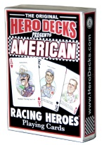 RACING HEROES DECK racing, danica patrick, richard petty, jimmy johnson, cars, drivers, nascar