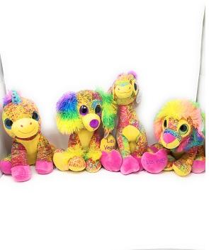 Rainbow Plush Animals