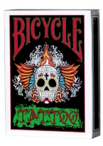 BICYLE TATTOO spooky, halloween, day of the dead, sugar skull