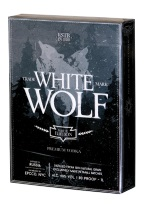 WHITE WOLF white, wolf, white wolf, premium vodka, vodka, russia, ellusionist, prohibition, prohibition set