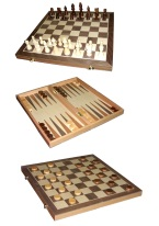 Deluxe Wooden 3 in 1 Set backgammon, chess, checkers, 3 in 1, set, wood, fun, table games