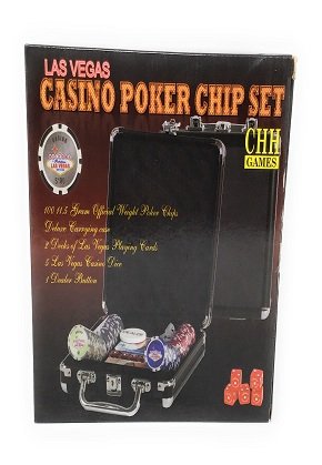 LV Casino Poker Chip Set Black Aluminum
