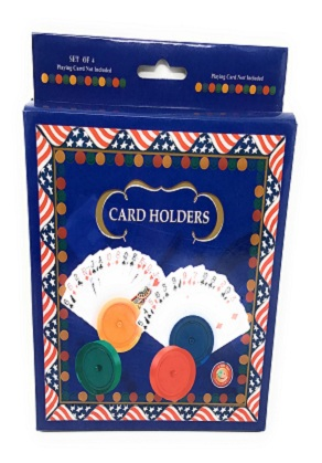 4 pc Round Card Holders