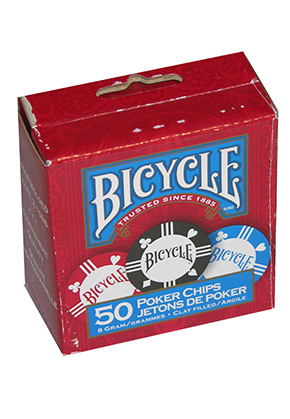 BICYCLE 50 PACK 8G CHIPS