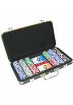 CHIP SET 300 BLACK CASE