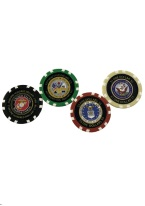 MILTARY CASINO CHIP SET Military Chips, Army, Navy, Air Force, Marines, Military Chips, Custom Chips
