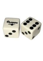 ALADDIN VINTAGE PAIR OF DICE ALADDIN, CASINO DICE, CLOSED CASINO, DICE,