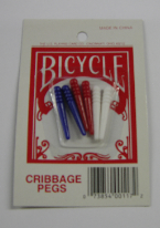 CRIBBAGE PLASTIC PEGS PK OF 6