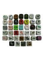 ANIMAL DICE 16MM Skull,Woodland animals, Devil,Penguin, Wold, Pig, Panda, Dog, Eagle, Raven, Dragon,Fish, Flamingo,Elephant, Turtle,horse, orca, lobster, Loon, moose,bettle,bear,unicorn,scorpion,hedgehog