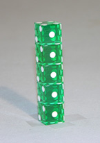 GREEN POLISHED 5/8 DICE