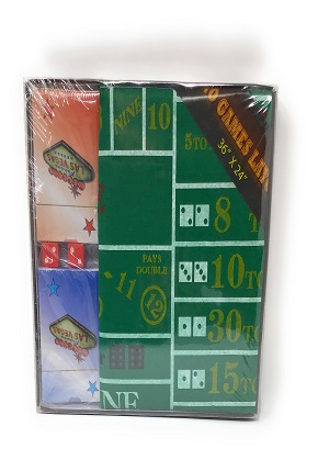 Mini Casino Layout with cards & dice