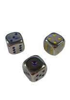 "METAL DICE SET IN BOX 16MM (5/8"")"