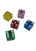 PROMOTIONAL SQUARE CORNERED  TRANSPARENT DICE 12MM Dice, Novelty dice, playing dice, color dice