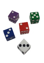PROMOTIONAL SQUARE CORNERED DICE 16MM