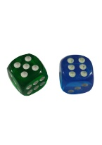 ROUND CORNERED TRANSPARENT DICE 16MM