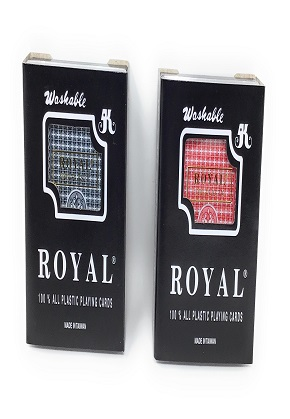 Royal plastic playing cards (1 deck)