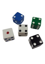 PROMOTIONAL SQUARE CORNERED DICE 25MM