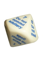 "TEN COMMANDMENTS DICE 25MM (1"")D10"
